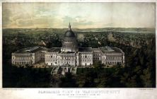 Washington City and Capitol 1857c Bird's Eye View 17x26, Washington City and Capitol 1857c Bird's Eye View